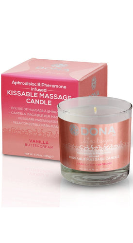 Kissable Vanilla Buttercream Adults Sexy Massage Candle