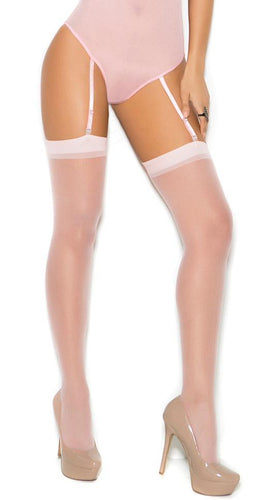 Sheer Baby Pink Women's Thigh Highs Main Image