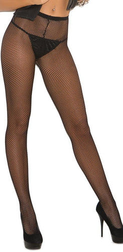 Sexy Women's Plus Size Black Fishnet Lingerie Full Length Stockings Pantyhose Hosiery Main Image