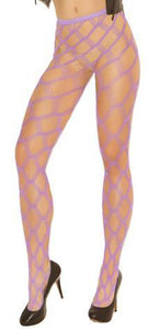 Sexy Diamond Net Purple Women's Full Length Pantyhose Stockings Main Image