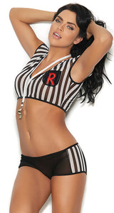 Womens Sexy Referee Bedroom Costume - Front Image