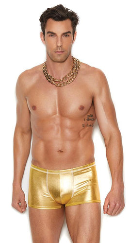 Men's Metallic Gold Boxer Briefs Lingerie Front Image