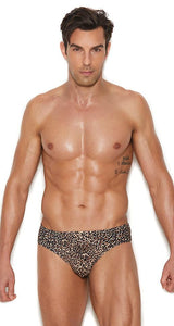 Sexy Leopard Print Thong for Men Front Image