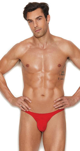 Men's Red Lycra Micro Thong Front Image