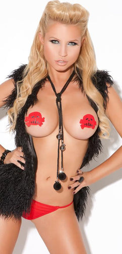 Skull and Crossbones Pasties and G-String Set Front Image