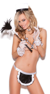 Sexy French Maid Role Play Costume for Women - Front Image