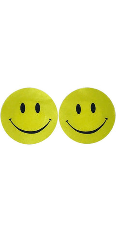Yellow Smile Face Women's Stick On Pasties Main Image