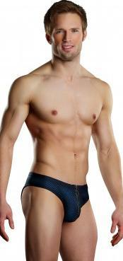 Men's Navy Blue and Black Open Back Briefs Main Image