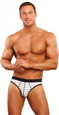 Moonshine Black And White Men's Open Back Jock Strap Jersey Uniform Lingerie Main Image