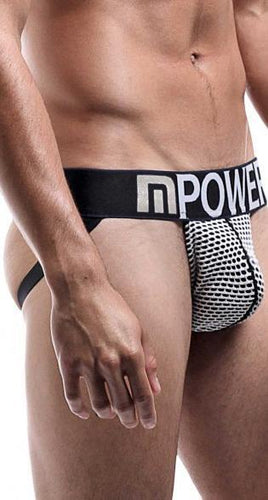 Sexy Black And White Honeycomb Men's Jock Strap Lingerie Main Image