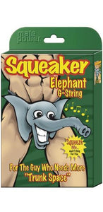 Men's Funny Squeaking Elephant Black G-String Main Image