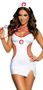 Naughty White Nurse Women's Lingerie Costume