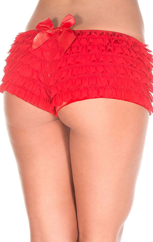 Ruffled Sexy Red Booty Shorts for Women
