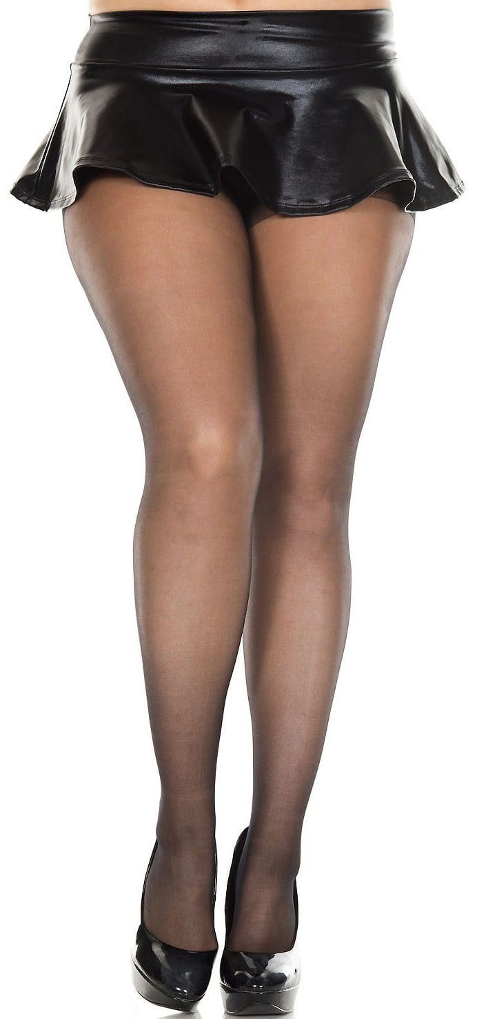 Full Figure Plus Size Spandex Sheer Thigh Highs Stockings