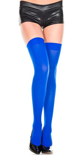 Opaque Women's Blue Thigh High Lingerie Stockings