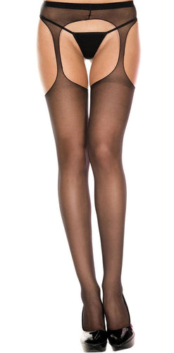 Sexy Sheer Black Women's Suspender Pantyhose Lingerie