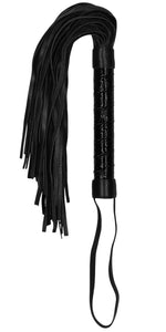 Luxury Black Leather Ouch Bondage Whip - Main Image
