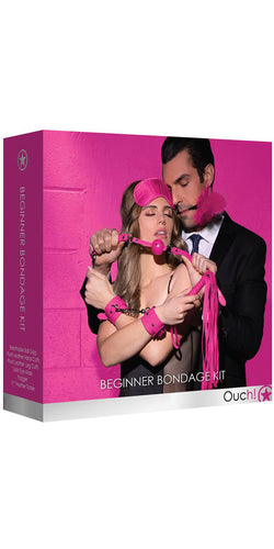 Beginner's Pink Bondage Toy Kit by Ouch - Packaging Image