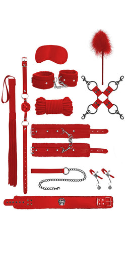 Deluxe Ouch Intermediate Red Bondage Kit - Product Image