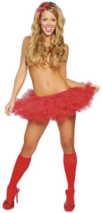 Fluffly Mini Petticoat Underskirt In Red