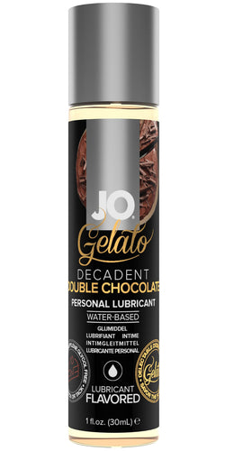 System Jo Decadent Double Chocolate Gelato Flavoured Water Based Lube - Front Image