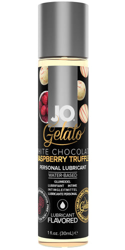 System Jo White Chocolate Raspberry Truffle Gelato Flavoured Water Based Lube - Front Image