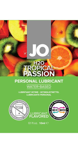 Tropical Passion Flavoured 10ml Water Based Lube Sachetr