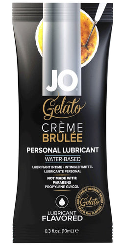 10ml Water Based Creme Brulee Gelato Flavoured Lube Sachet
