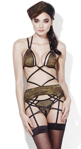 Fever Sexy Army Private Camouflage Women's Bedroom Lingerie Costume Front View