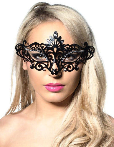 Cut Out Black Plastic Masquerade Mask