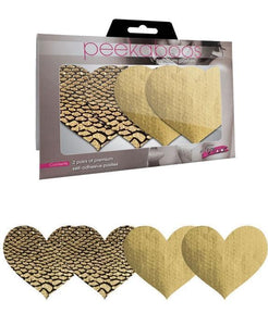 Gold Heart Shaped Women's Lingerie Pasties Main Image