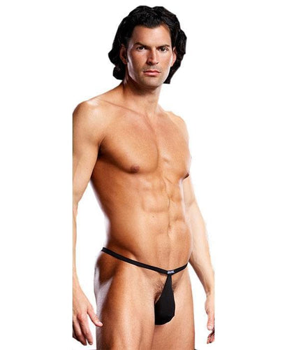 Pouch Men's V-String Lingerie in Black