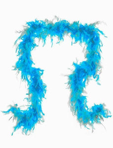 Feather Boa in Aqua - Two Tone