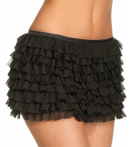Burlesque Black Ruffle Skirt