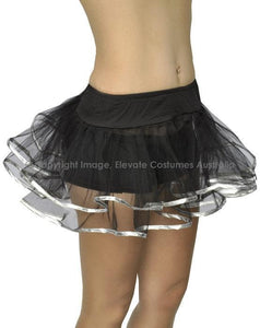 Chic Lingerie Underskirt - Black with Silver