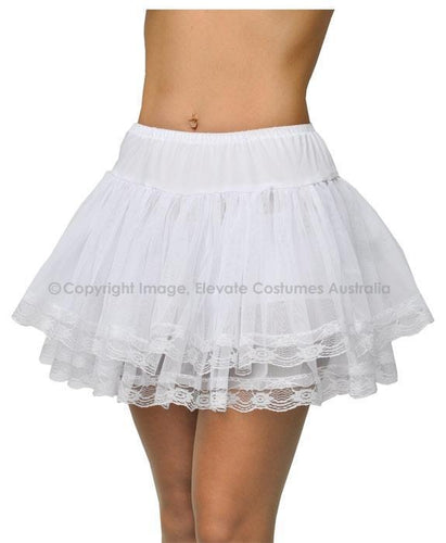 Allure Lace Trimmed Underskirt - White