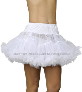 Fantasy Thigh Length Petticoat - White