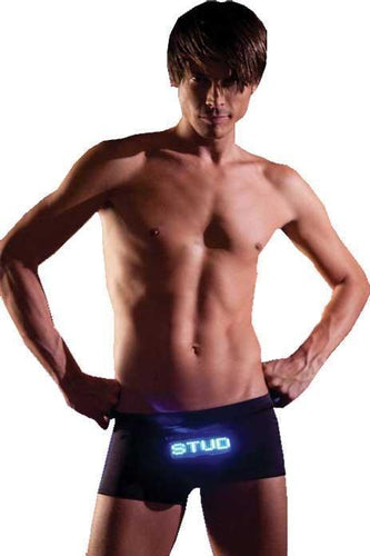Stud Men's Light Up Black Trunks