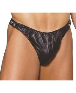 Leather Side Opening Men's Thong