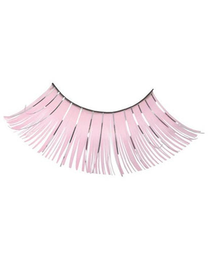 Extra Long Tinsel Eyelashes in Pale Pink