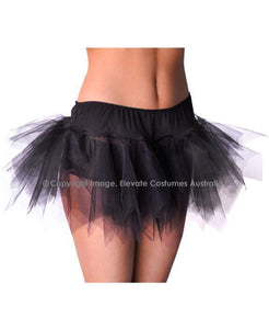 Jagged Cut Sexy Petticoat - Black