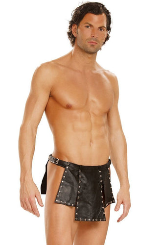 Studded Leather Men's Lingerie Kilt