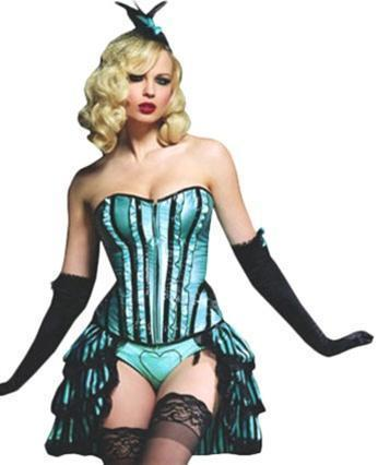 Sexy Burlesque Betty Corset - Aqua