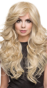Deluxe Blonde Bombshell Women's Curly Fashion Wig - Front Image