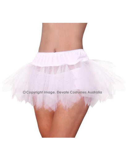 Jagged Cut Sexy Petticoat - White