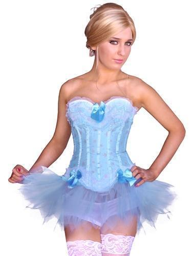 Stars and Ruffles Blue Corset with Skirt