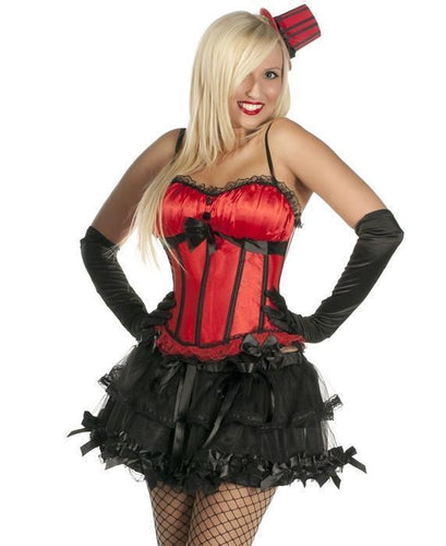 Bow Corset in Red Satin