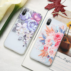 3D Relief Floral iPhone Case