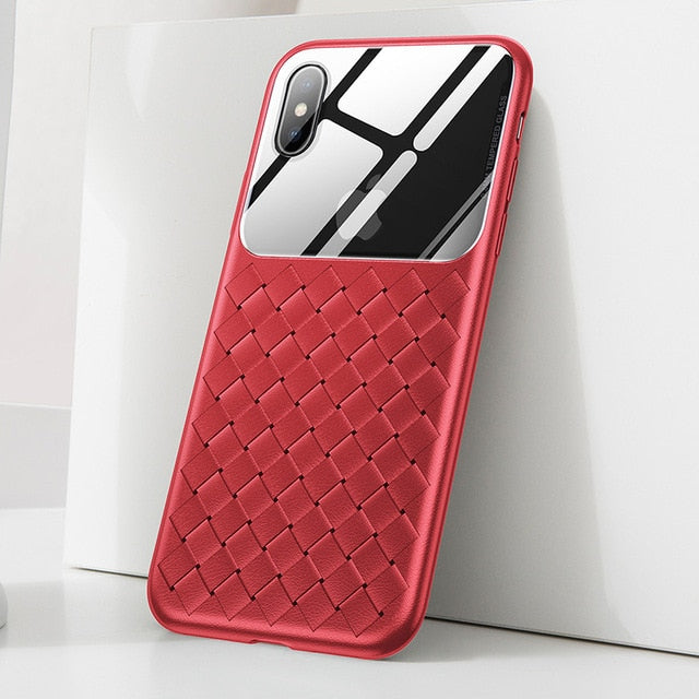 Grid Pattern Weave iPhone Case