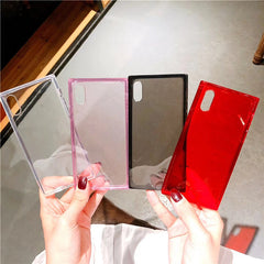 Clear Square Soft iPhone Case